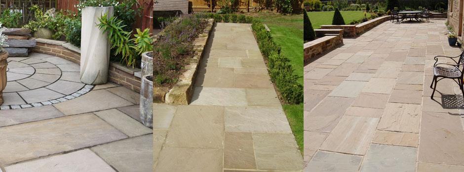 Patio Pavers Ebay : Indian sandstone paving patio slabs natural m