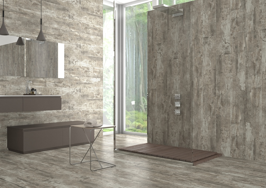 Wood effect porcelain floor wall tiles silver birch for Birch wood cost