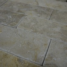 Grey Gold Tumbled Brick Slips MIKE 7 SMALL
