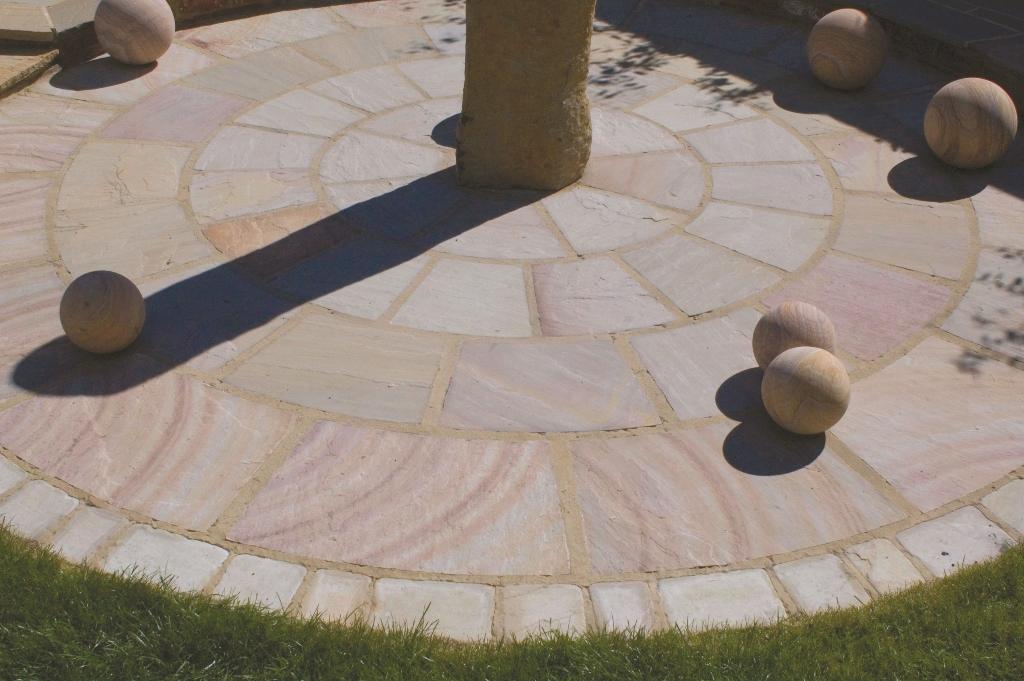 Patio Pavers Ebay : Indian sandstone patio paving circle kit colours flags