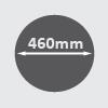 460mm