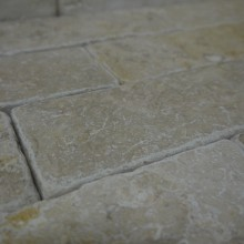 Grey Gold Tumbled Brick Slips MIKE 6 SMALL