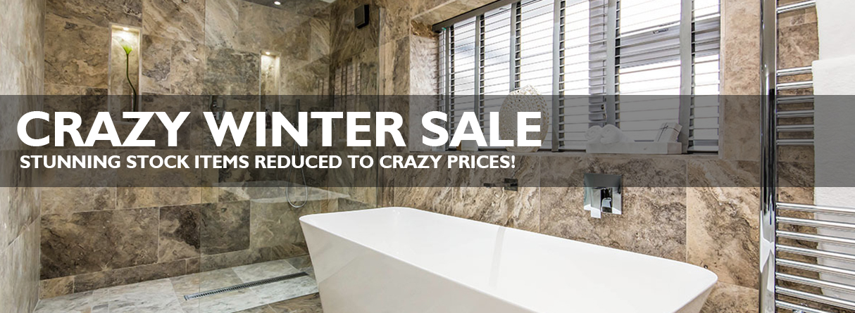 Crazy winter sale banner
