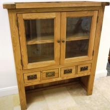 oak unit 4 drawers 2 door £100+vat 2