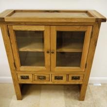 oak unit 4 drawers 2 door £100+vat