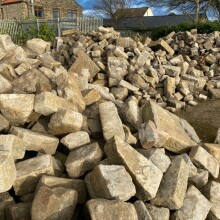 Reclaimed walling at yard 3