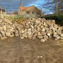 Reclaimed walling at yard 5