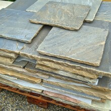 Reclaimed Sandstone on pallet side small